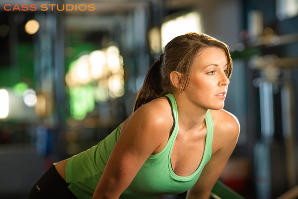 woman in green working out