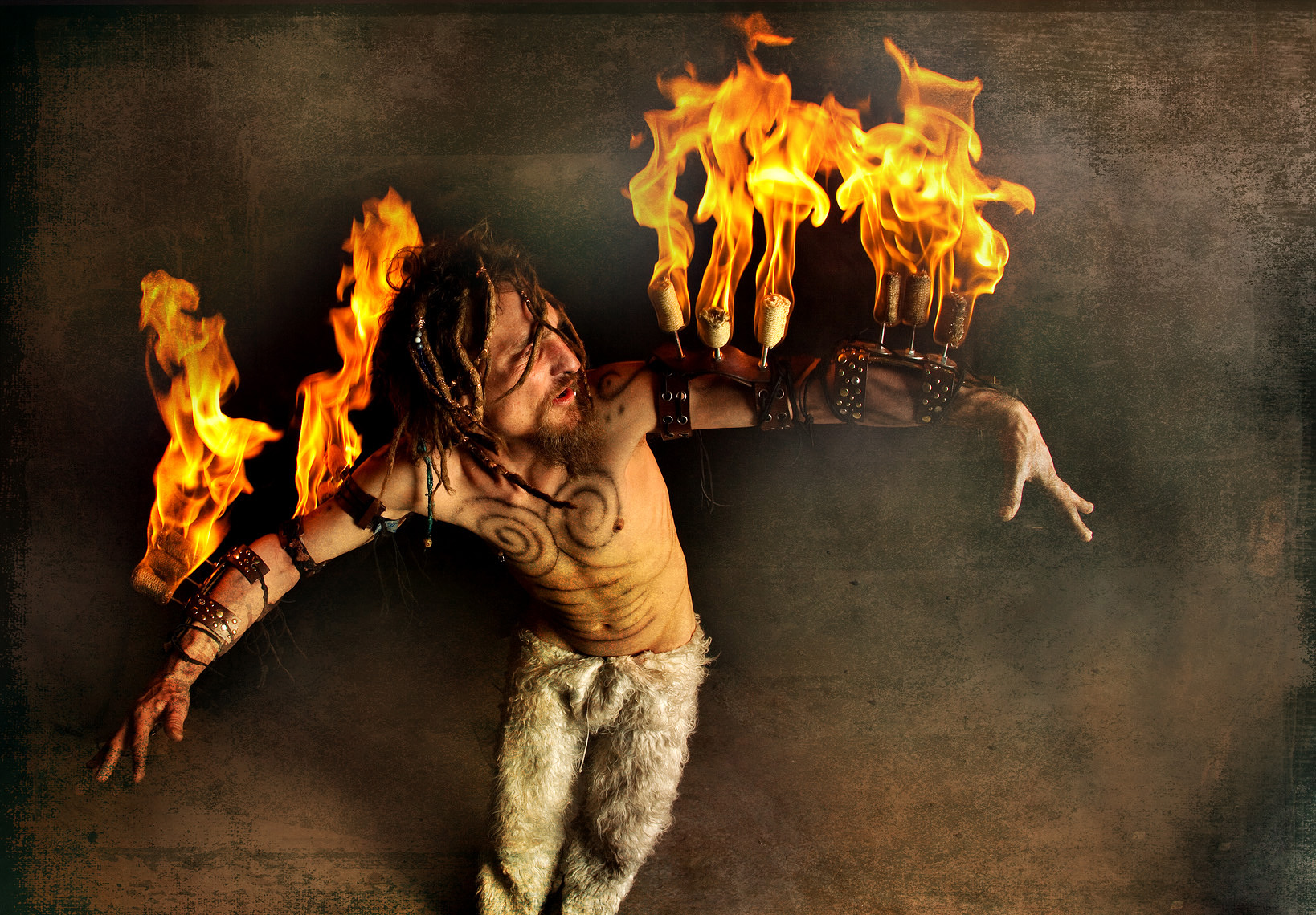 Fire Dancer Editorial Photographer